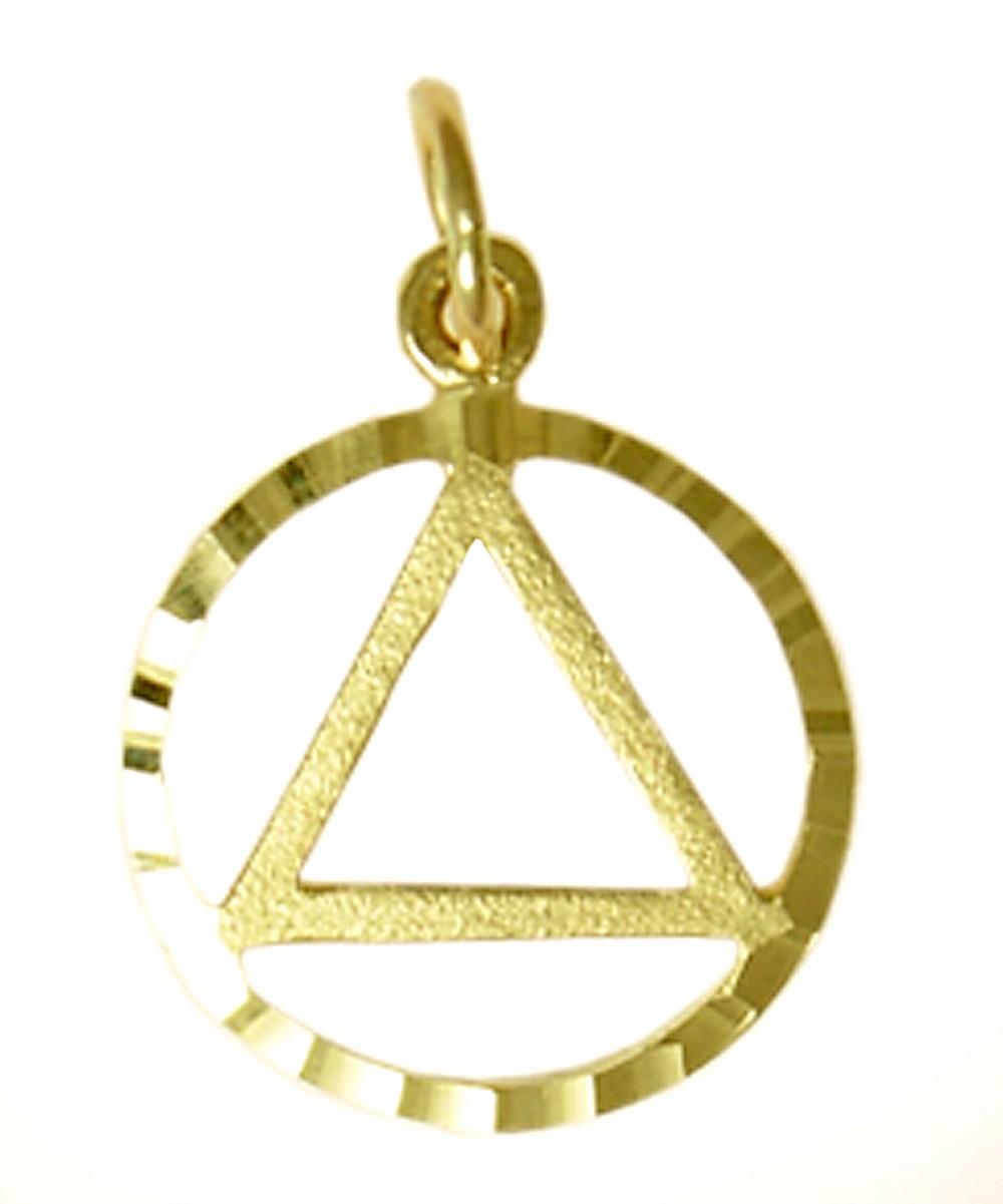 Gold circle pendant 14k gold circle pendant my 12 step store 14k gold diamond cut circle aa pendant 14kaaroughedgespendantg aloadofball Gallery