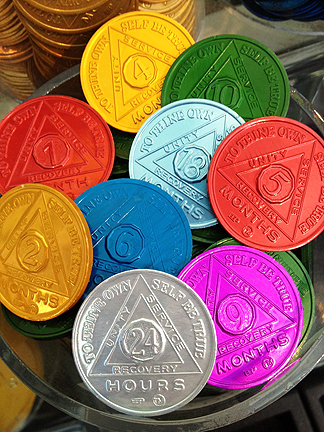 Alcoholics Anonymous Coins Recovery medallions aa sobriety coins my 12 ...