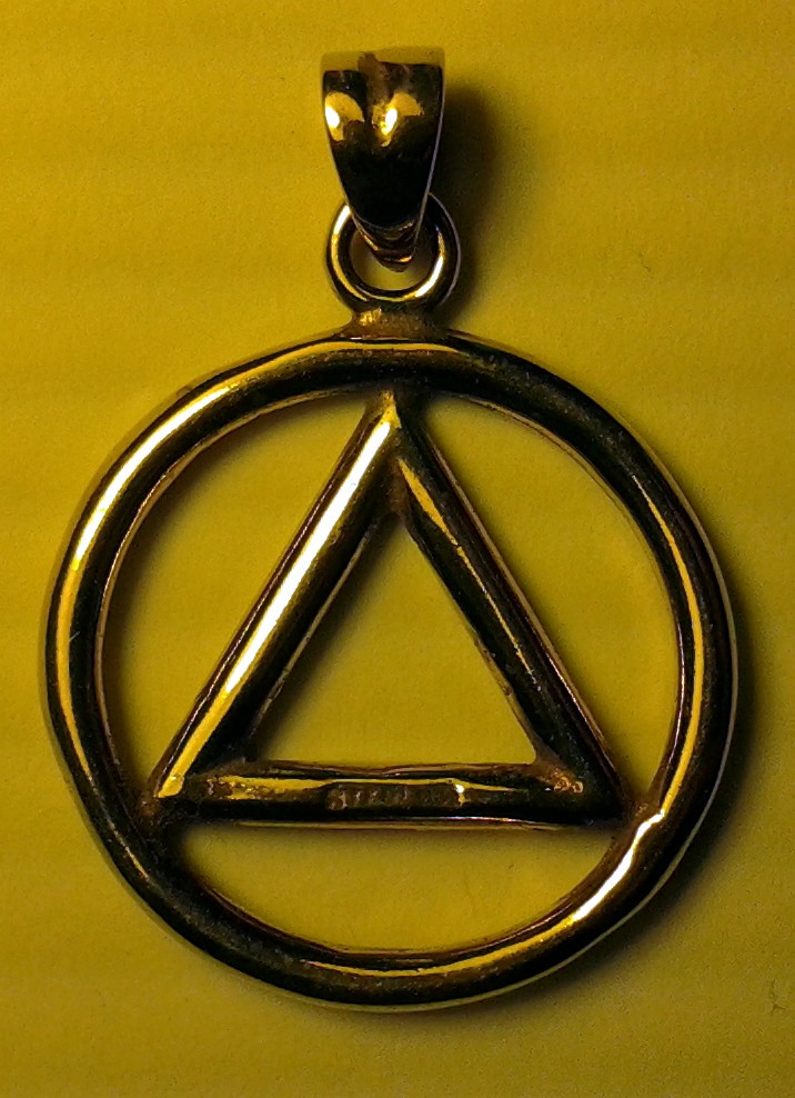 Brass Aa Symbol Pendant Thick
