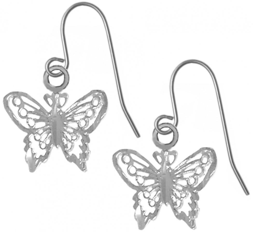 sterling silver small butterfly earrings