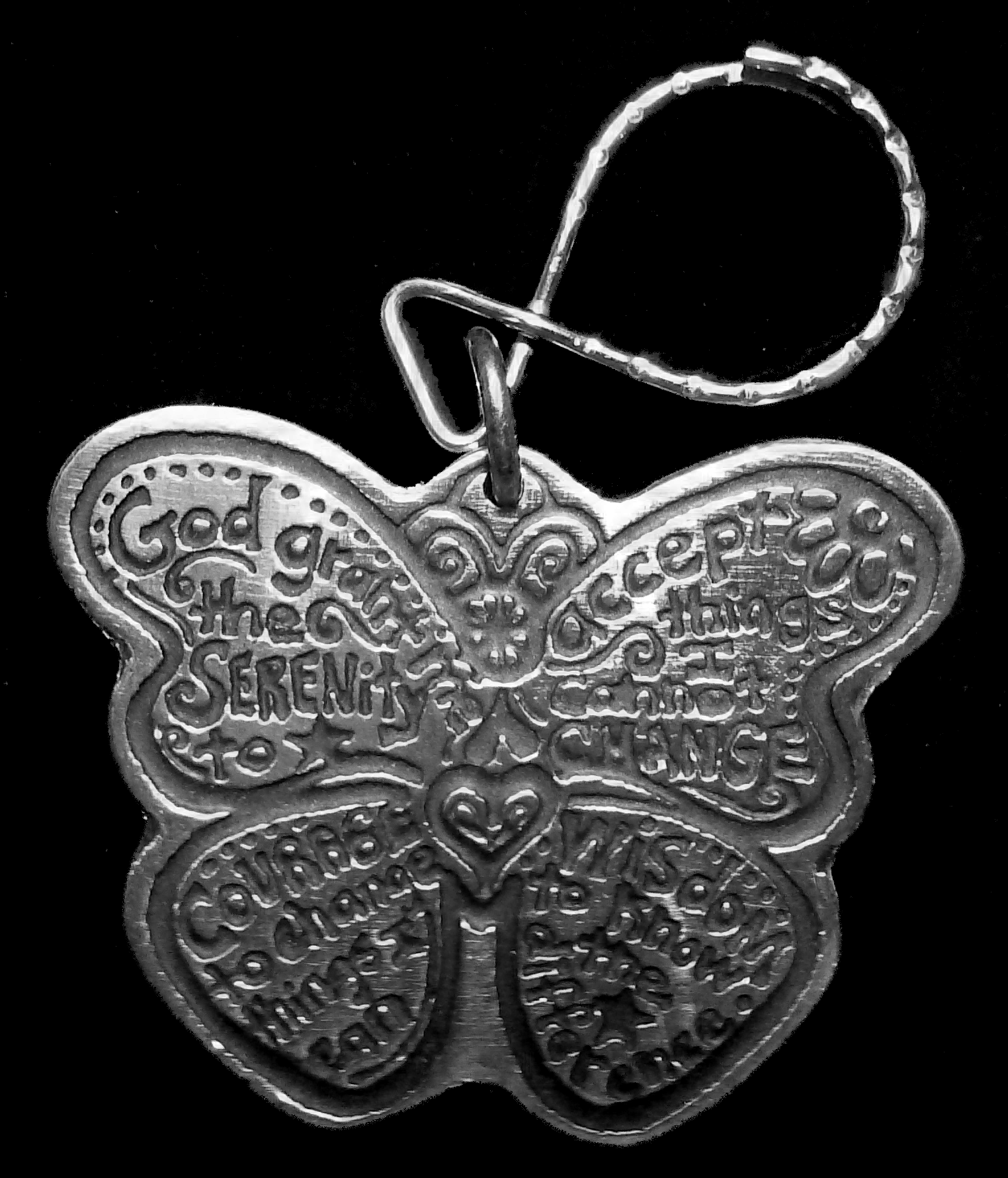Butterfly Keychain Recovery Keychain My 12 Step Store