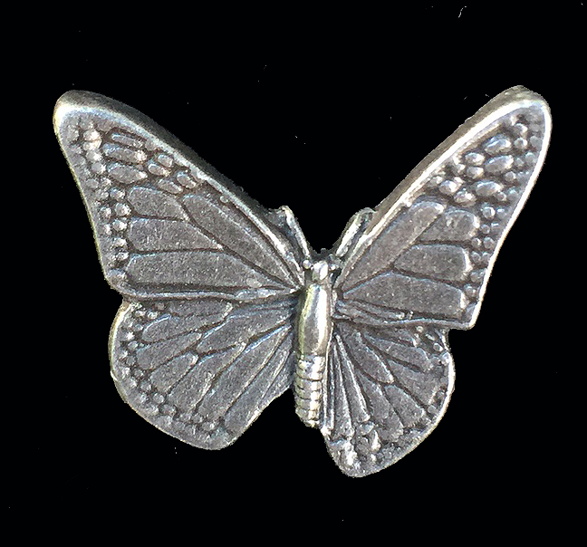 Pewter Butterfly Lapel Pin