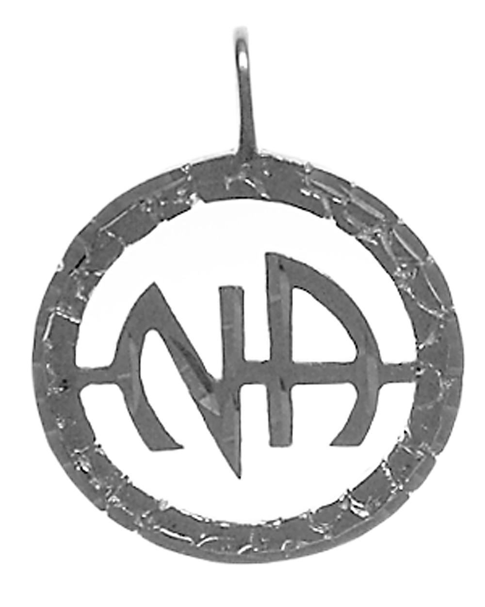 Sterling silver na initials pendant circlenasymbolpendantg aloadofball Image collections