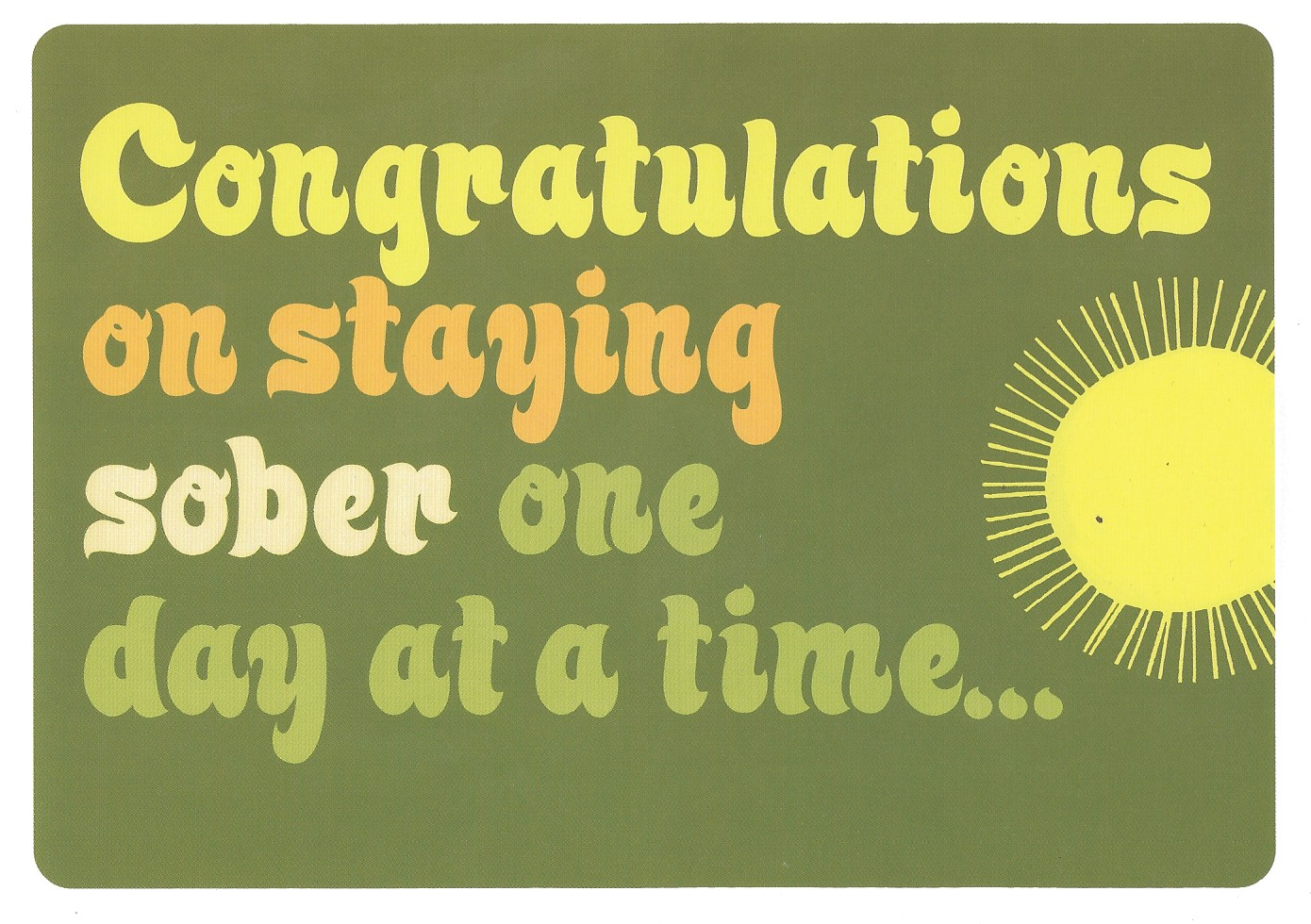 Sobriety card sobriety anniversary cards my 12 step store congratulations on staying sober greeting card cogratsodatcardg bookmarktalkfo Choice Image
