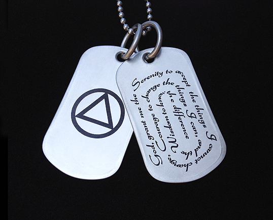 Serenity Prayer Necklace Aa Symbol Jewelry My 12 Step