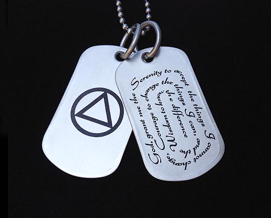 Serenity Prayer Necklace Aa Symbol Jewelry My 12 Step Store