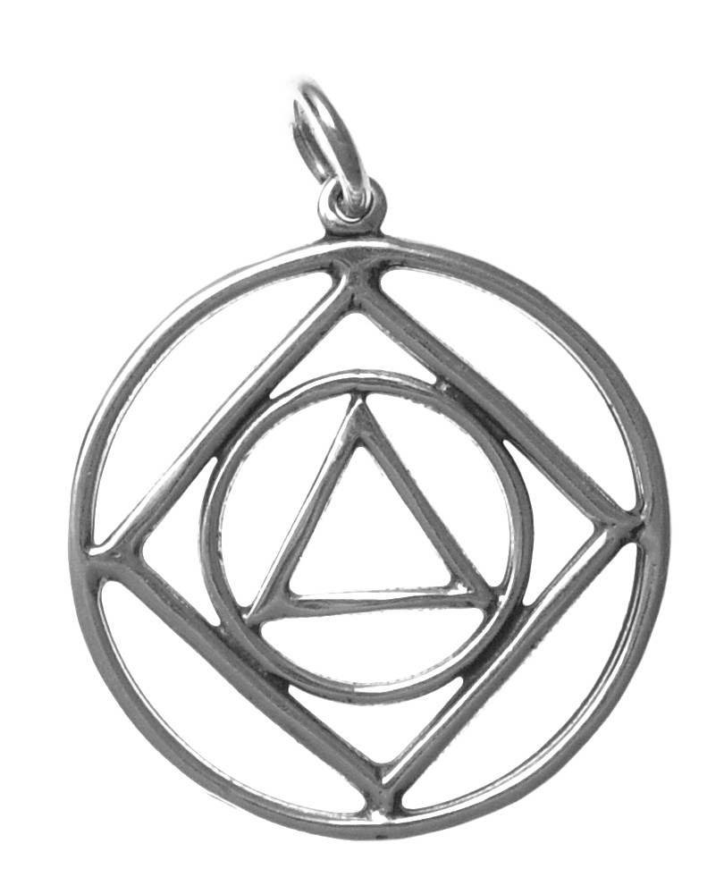 Dual Program Aa Na Sterling Silver Pendant