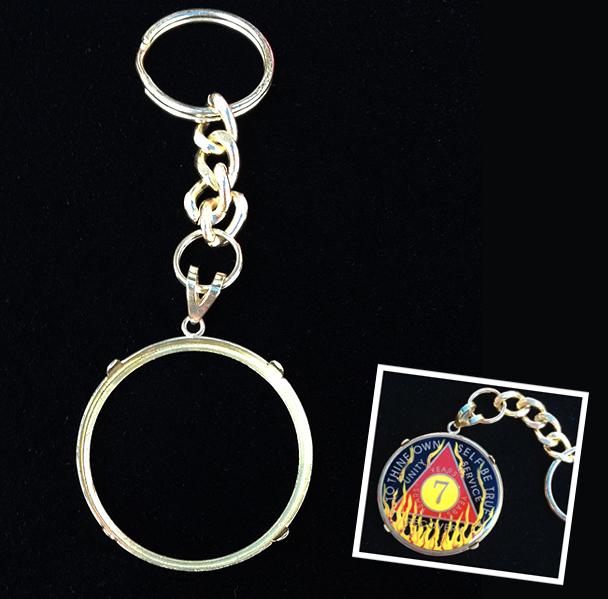 Bezel With Key Chain For Designer Medallions