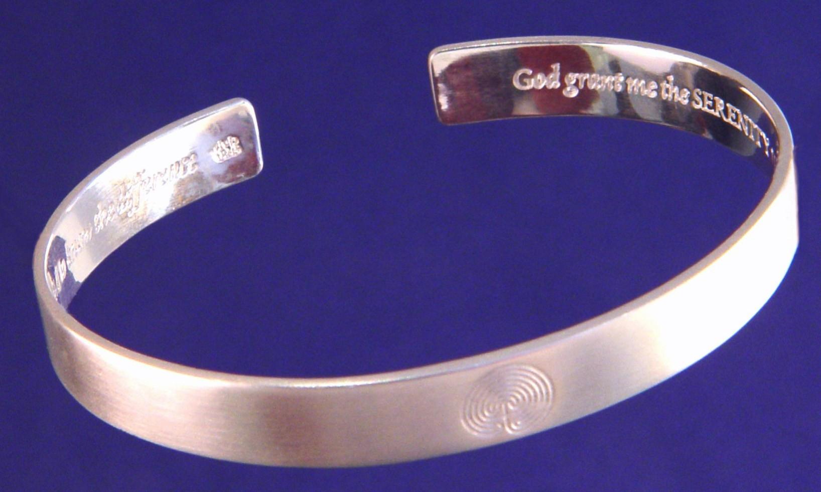 Serenity Prayer Bracelet Sterling Silver Serenity Prayer