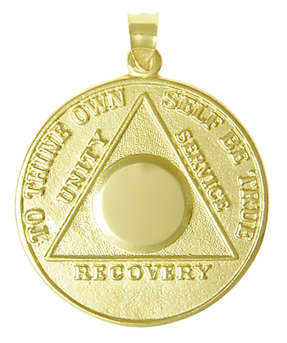 10k Gold Medallion Pendant Alcoholics Anonymous Medallion