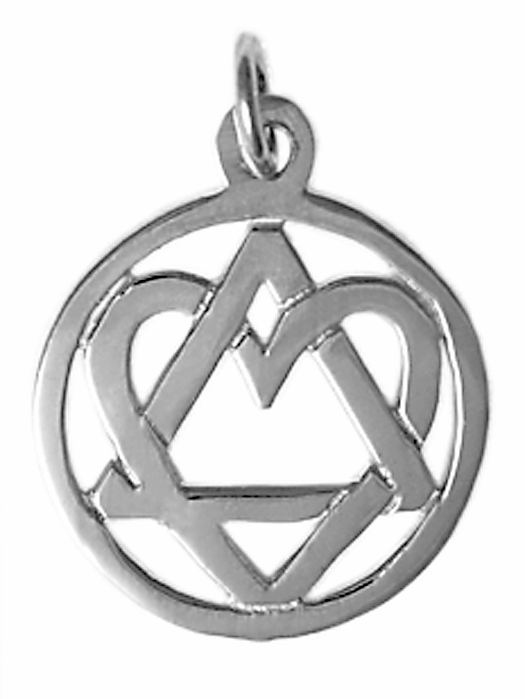Sterling silver aa heart triangle pendant hearttrianglependantg buycottarizona