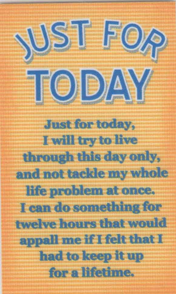 AA Just for Today Wallet Card | Prayer Cards Online