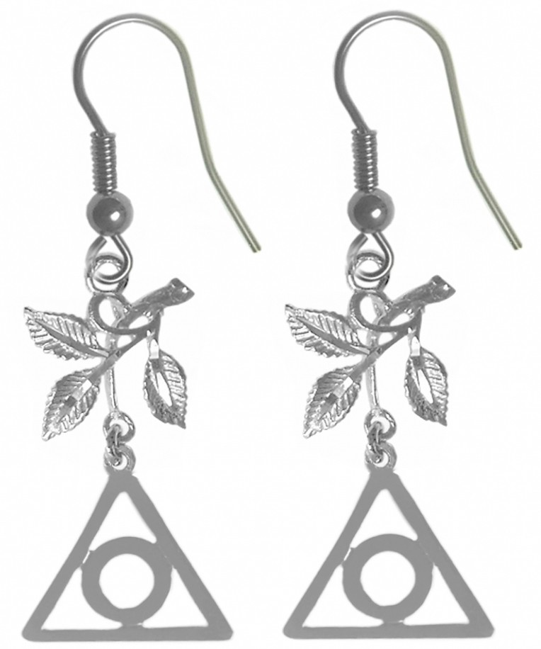 Sterling Silver Al Anon Symbol Earring With 3 Leaves