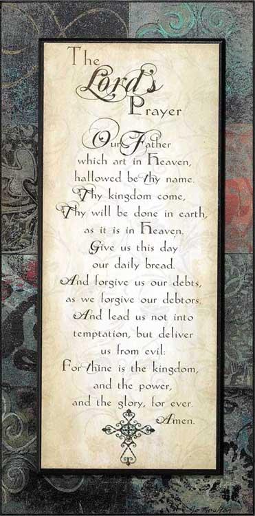 Lord S Prayer Plaque
