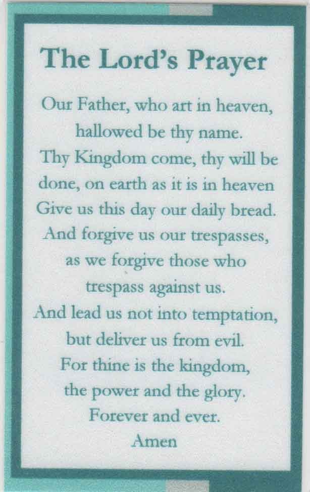Lord S Prayer Wallet Card