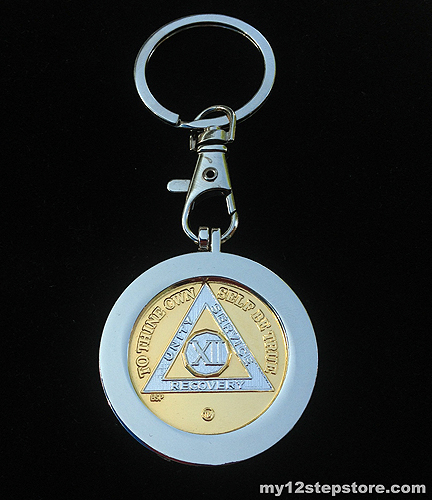Deep Cavity Metal Key Chain Medallion Holder