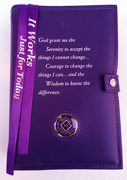 Na Double Cover Serenity Prayer Purple
