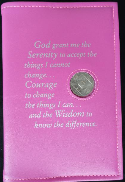 Book Cover For Na Basic Text Serenety Prayer Pink