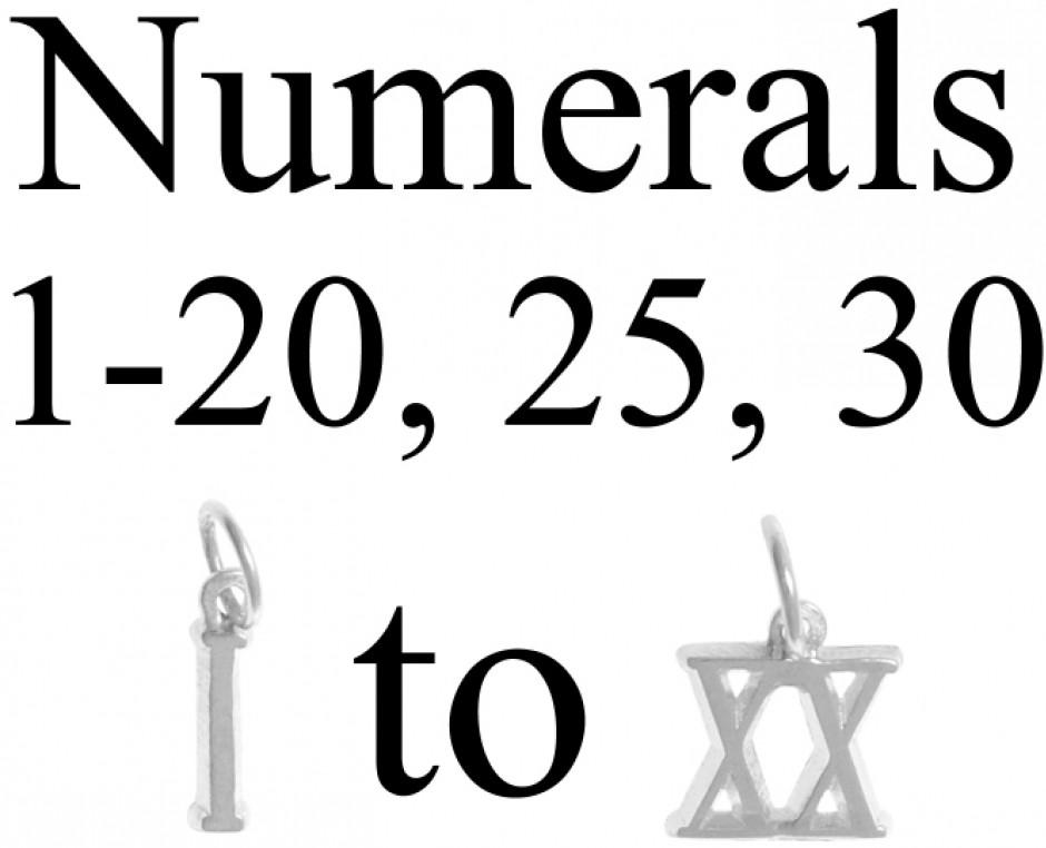 Roman numeral pendant roman numeral sterling silver necklace sterling silver small roman numeral pendant numeralromansmall407g thecheapjerseys Choice Image