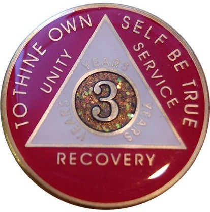 Pink Aa Medallion Tri Plate Recovery Medallion My 12