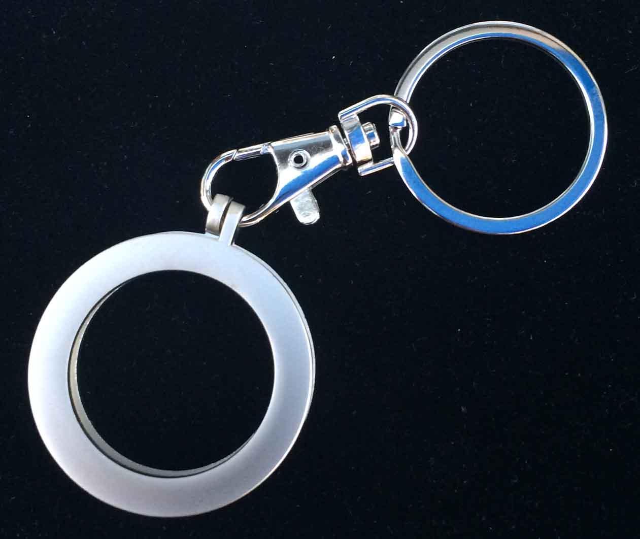 Metal Key Chain Medallion Holder