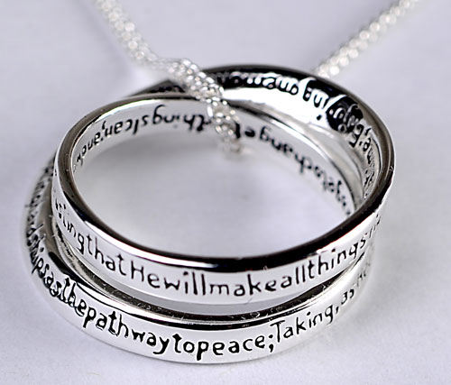 Full serenity prayer silver plated double mobius full serenity prayer silver plated double mobius spdoublemobiusg mozeypictures Images