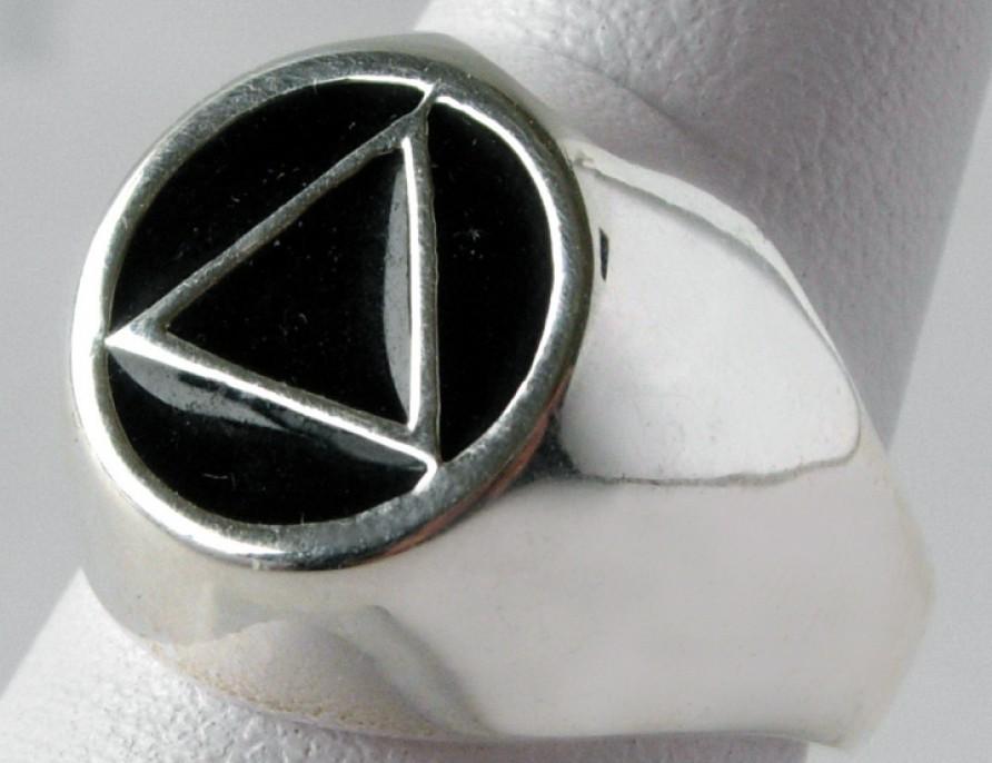 Sterling Silver Aa Black Enamel Inlay Men S Ring
