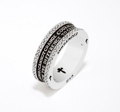 Silver Serenity Prayer Ring