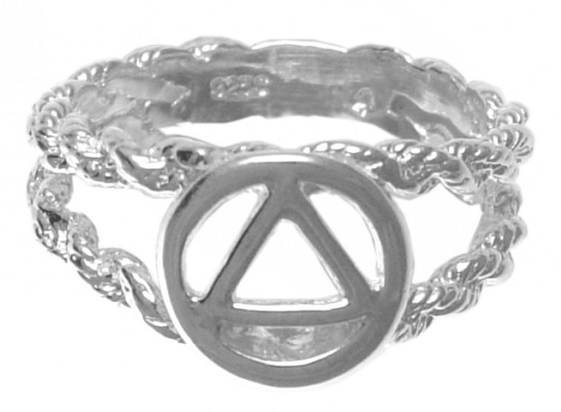 Triangle In Circle Aa Ring