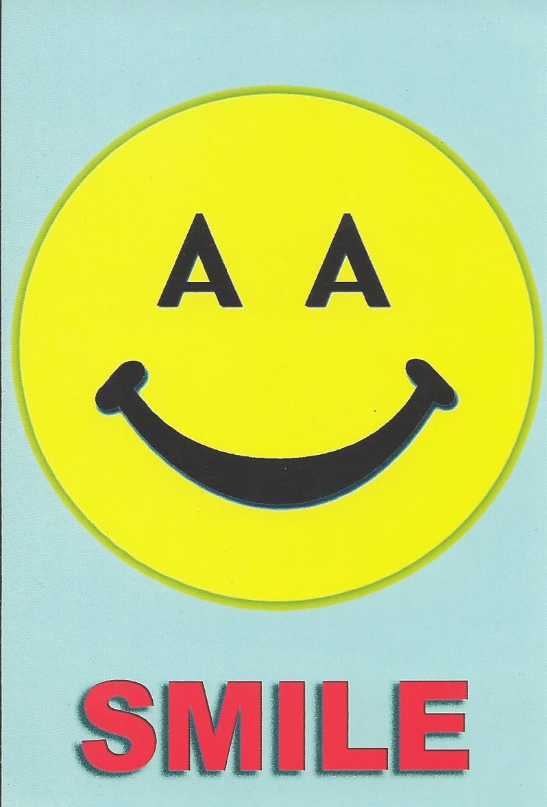 Aa Happy Face Postcard