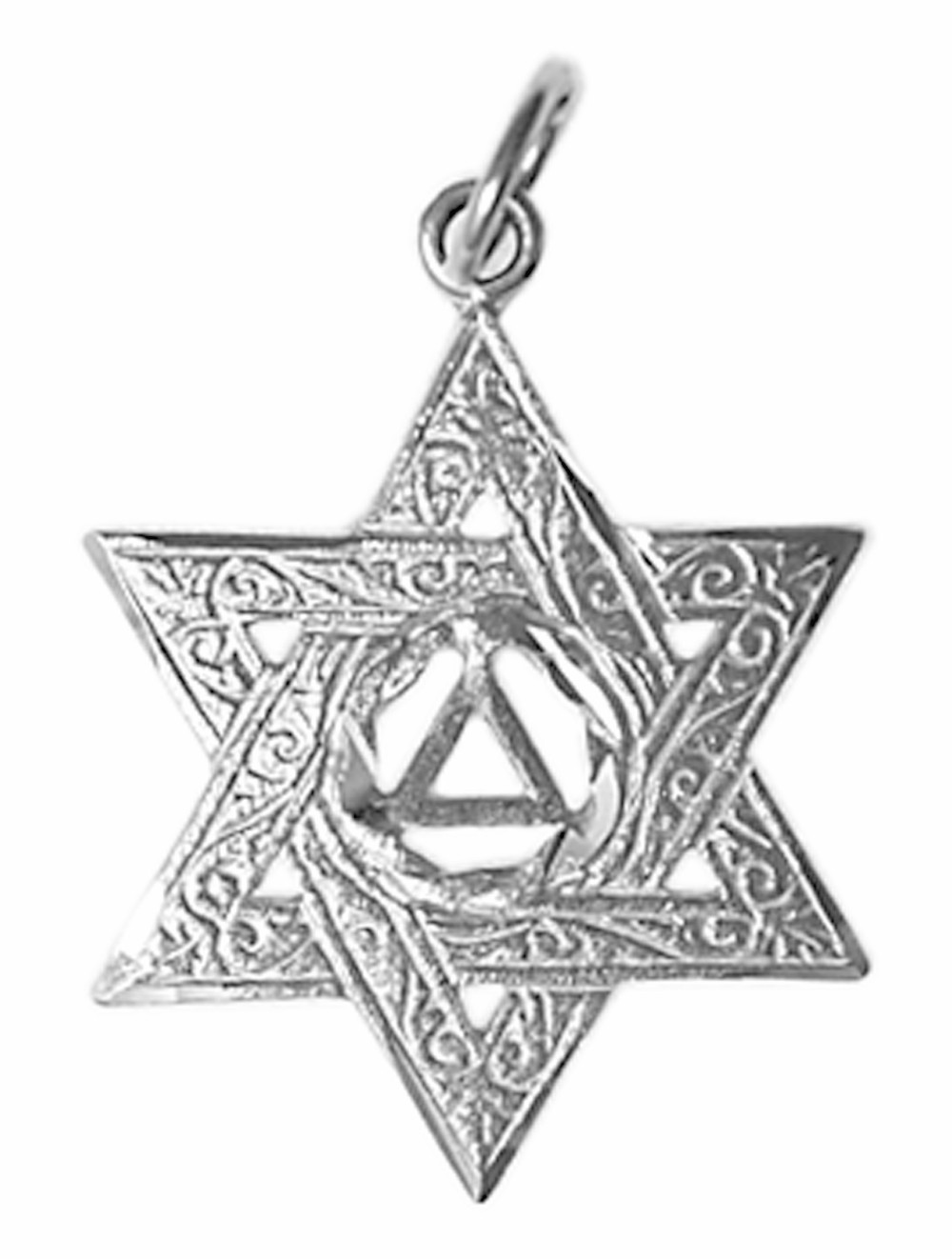 Aa sterling silver star of david aloadofball Image collections