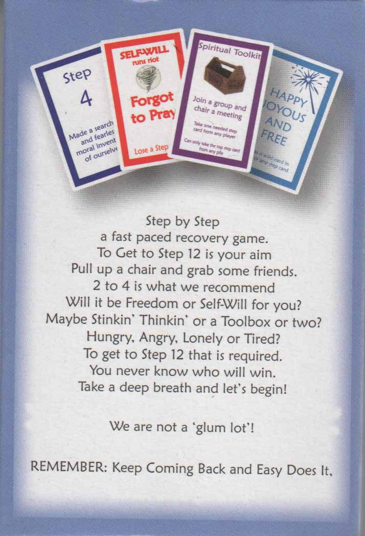 Step By Step Card Game Recovery Games My 12 Step Store