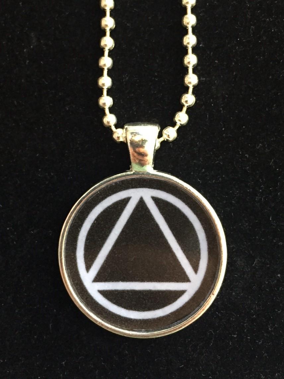 Aa Unity Symbol Resin Necklace Black