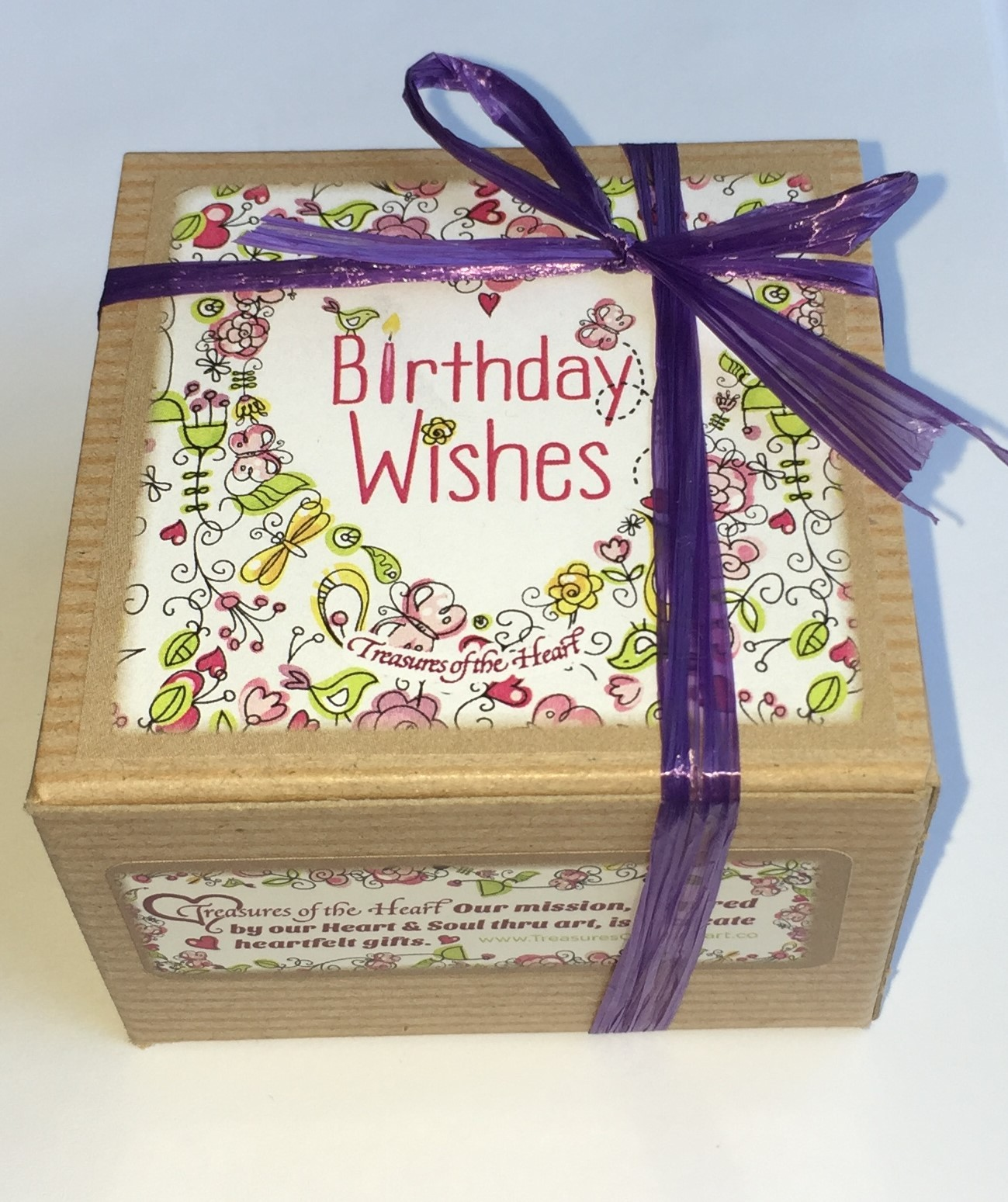 Birthday Wishes Tin Candle W Gift Box