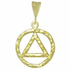 Large Size, 14k Gold Pendant, Thick AA Symbol