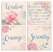 Set of 4 Serenity Prayer ceramic coasters