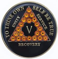 AA Black Medallion w Orange Triangle