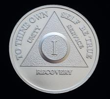 AA Silver Recovery Anniversary Medallion