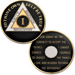 AA BLACK Tri-Plate Enamel Recovery Medallion