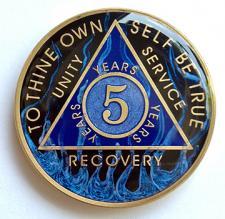 AA Blue Fire Designer Medallion