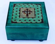 Celtic Cross Wooden God Box
