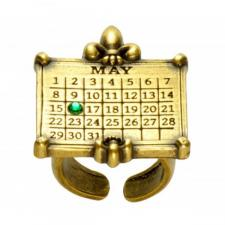 CrownCalendarRingBrass