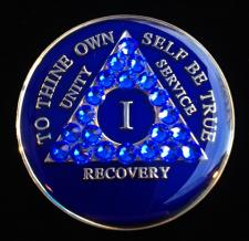 Deep Blue Bling Tri-Plate Medallion