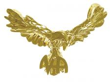 14k Gold Eagle NA Pendant
