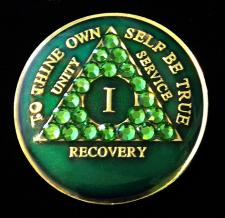Emerald Green Bling Tri-Plate Medallion