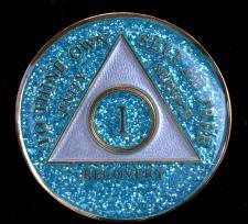 AA Aqua Sparkle Recovery Medallion