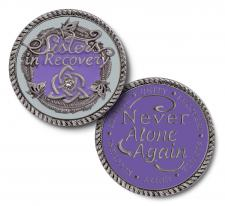 Sisters in Recovery Lilac Medallion