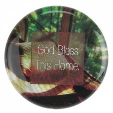 Glass Dome God Bless Magnet