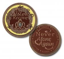 Sisters in Recovery Mocha Medallion