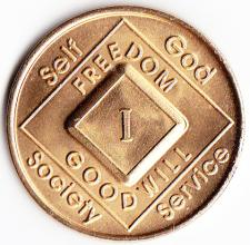Narcotics Anonymous Bronze Medallion